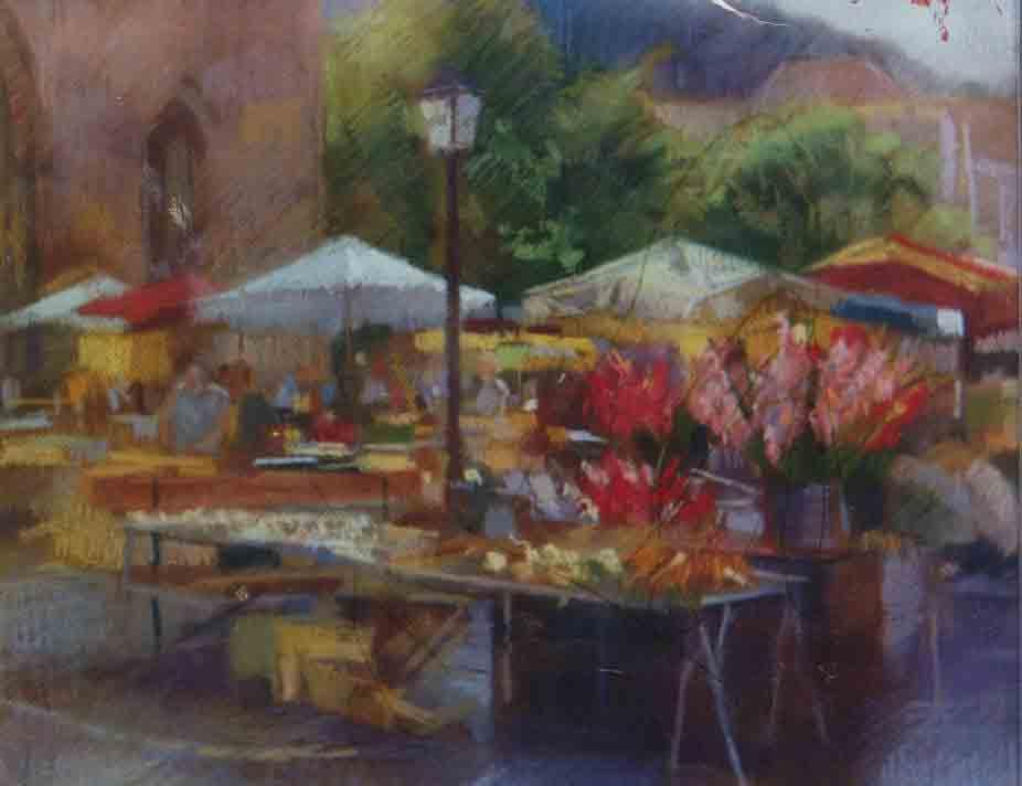 Sketch, Cahors Market.