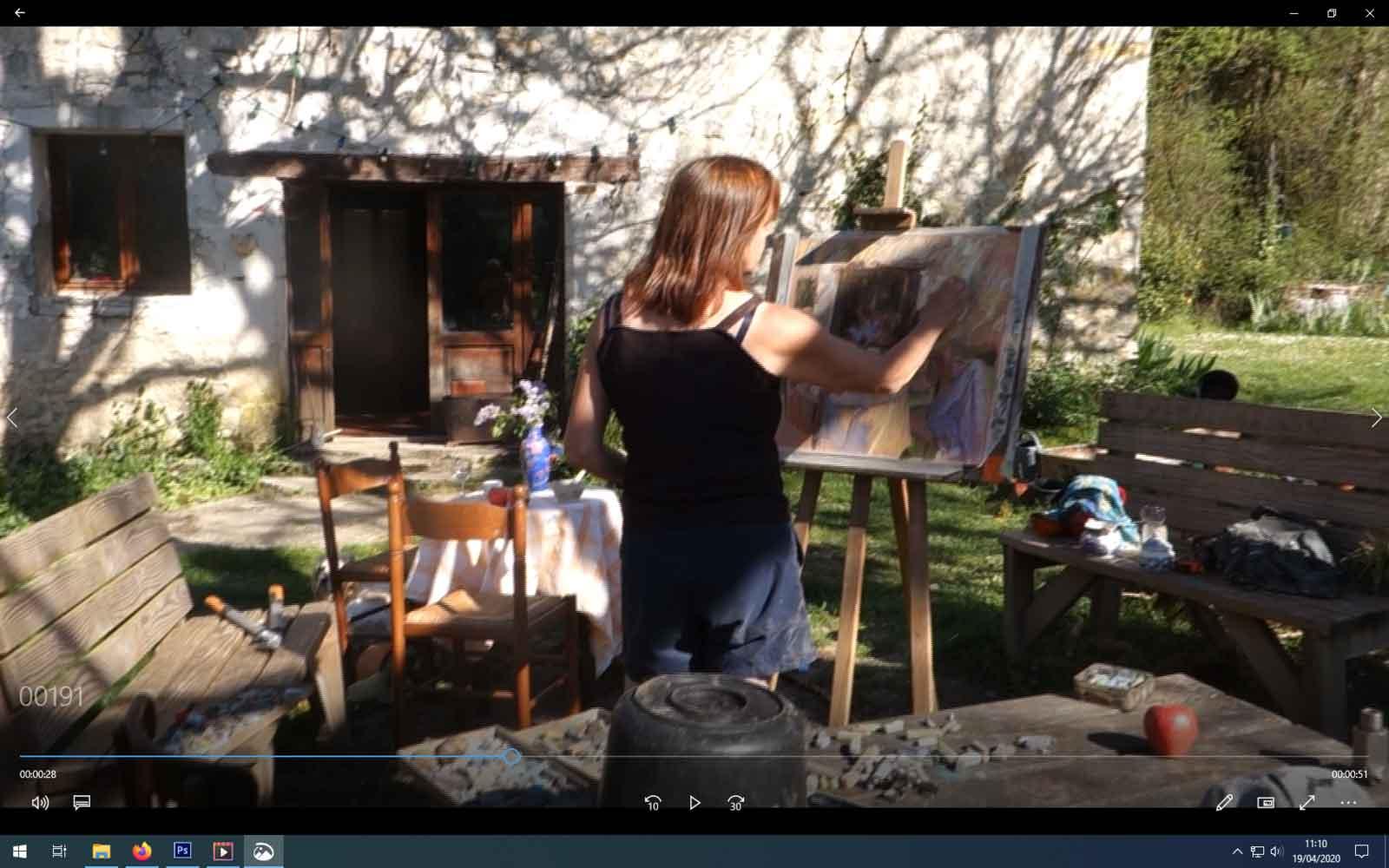 artist's demonstration