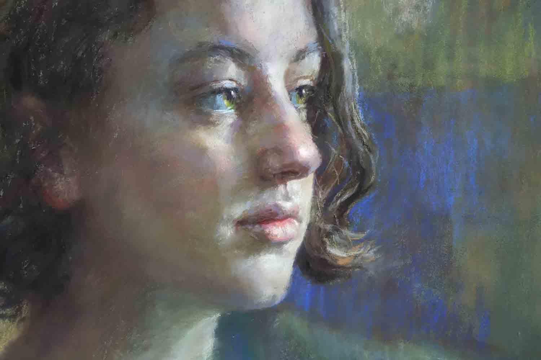 pastel portrait demonstration